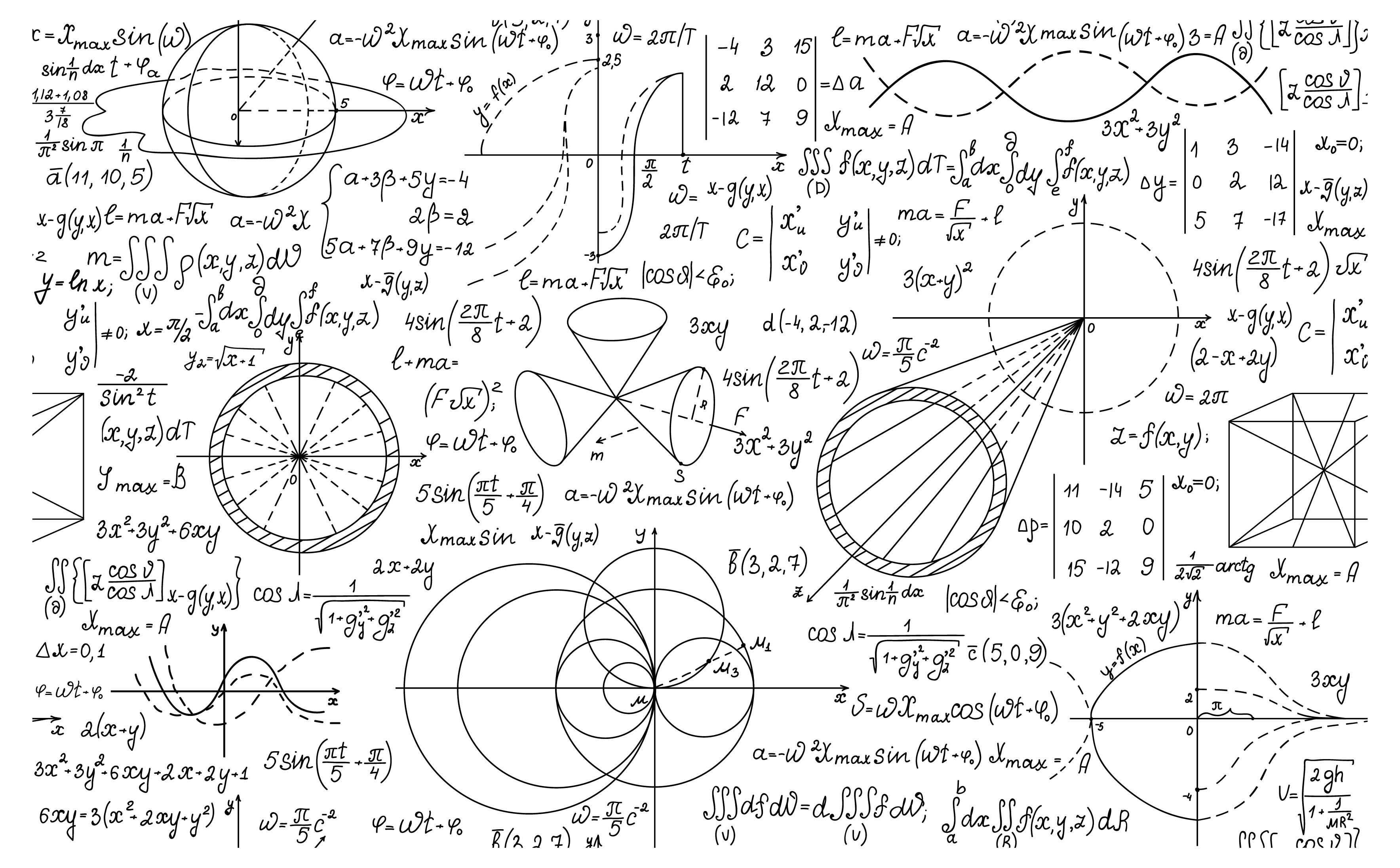 Physics mathematical formulas.