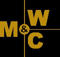 Gold Morrison, Webster & Carlton logo.