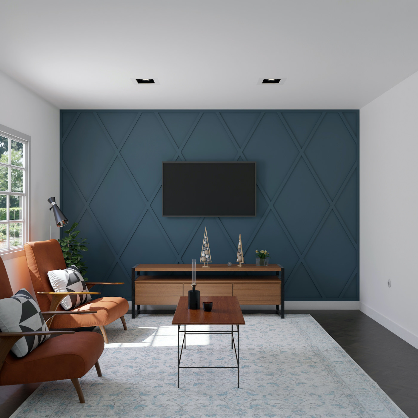 Outfit's accent wall