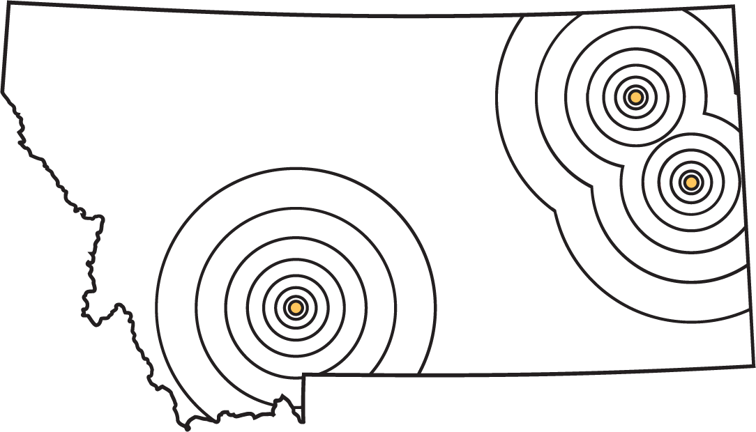 Locations map.