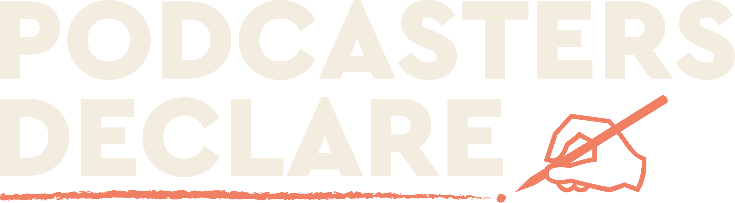 Podcasters Declare logo