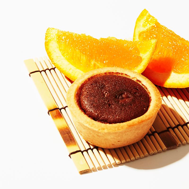 Cocoa and Orange Fruit Tart x2