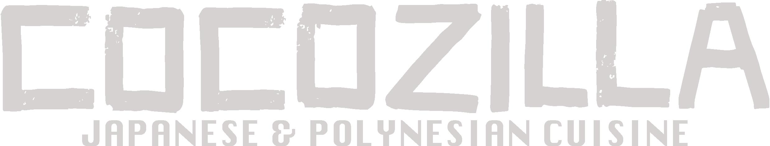 Main logo for COCOZILLA, an asian inspired streetfood company