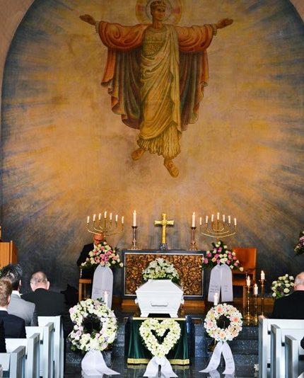 Begravelse for Erna 95 år