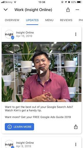 google posts image