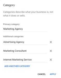 GMG Business Categories