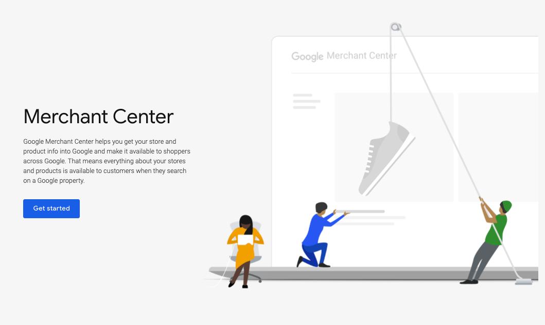 Merchant Center homepage