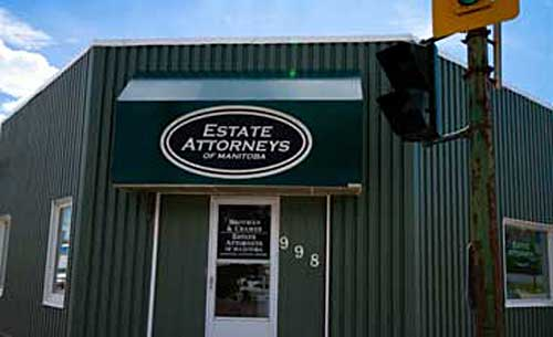 The outside of the Estate Attorneys of Manitoba building