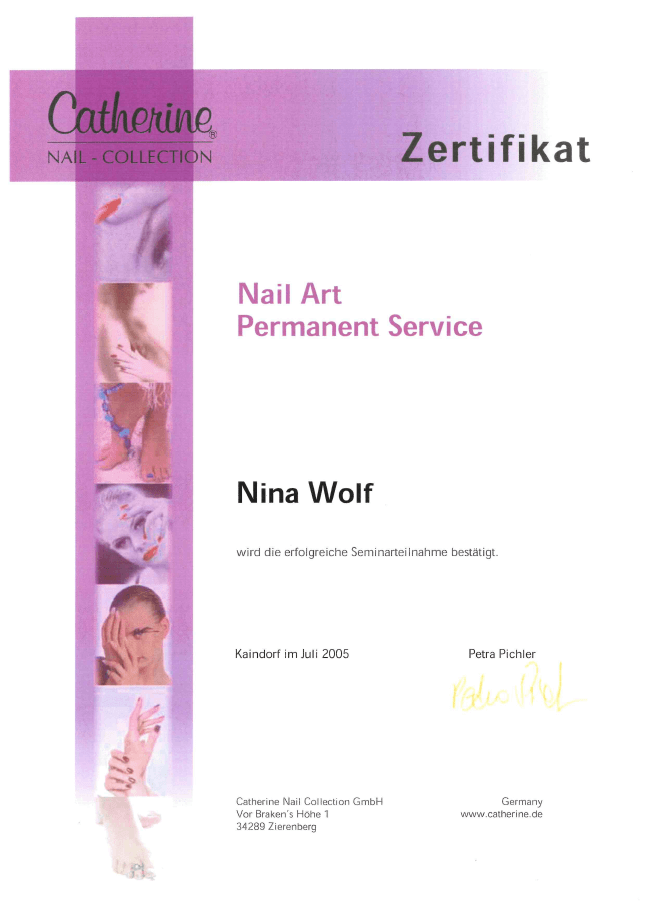 Catherine Nail Collection: Nail Art Permanent Service