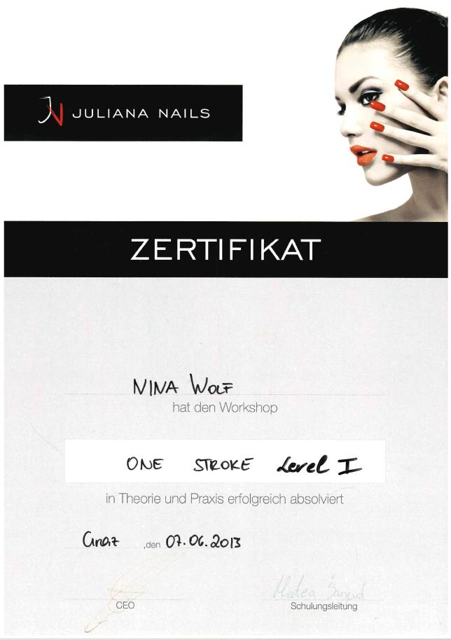 Juliana Nails: One Stroke Level 1
