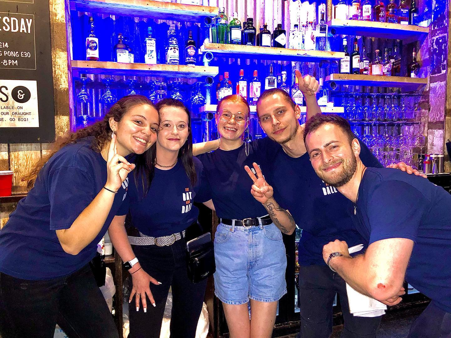 HAPPY TO BE BACK AND 😆🍻 BAR SERVICE BACK IN THE WORKS! . . We are so glad to see your wonderful faces at the bar and being able to order directly with us!!!  . . The team has been working really hard to bring back the good old fashion bar experience!,so come down and GIVE US A VISIT!!! . . #barstaff #staff #pubsoflondon #sportsbars #team #teamworkmakethedreamwork #beerstagram #beer #beeroclock #cocktails #batandball #batandballpub #batandballstratford #westfield #stratfordwestfield #friendshipgoals #alcoholics #happyhourtr #happyhour
