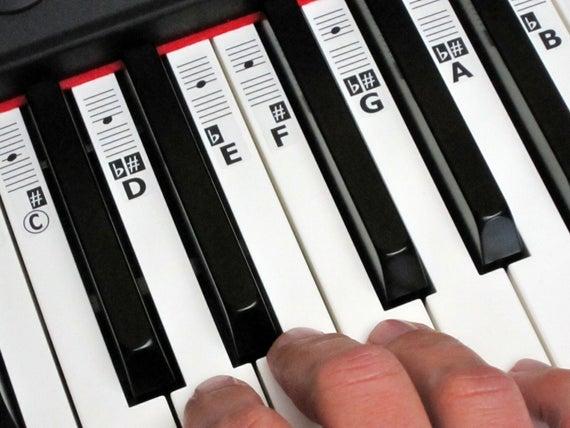 Exemple d'autocollants pour piano