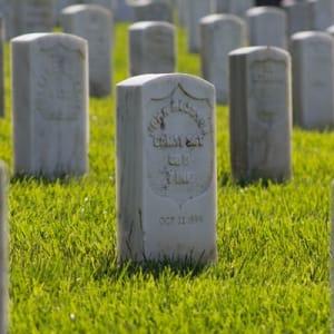 A row of gravestones