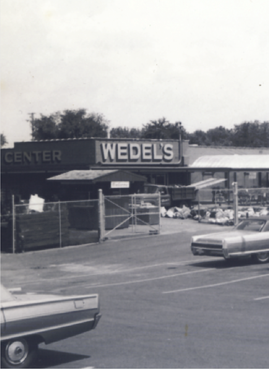 History black and white image of Wedel's