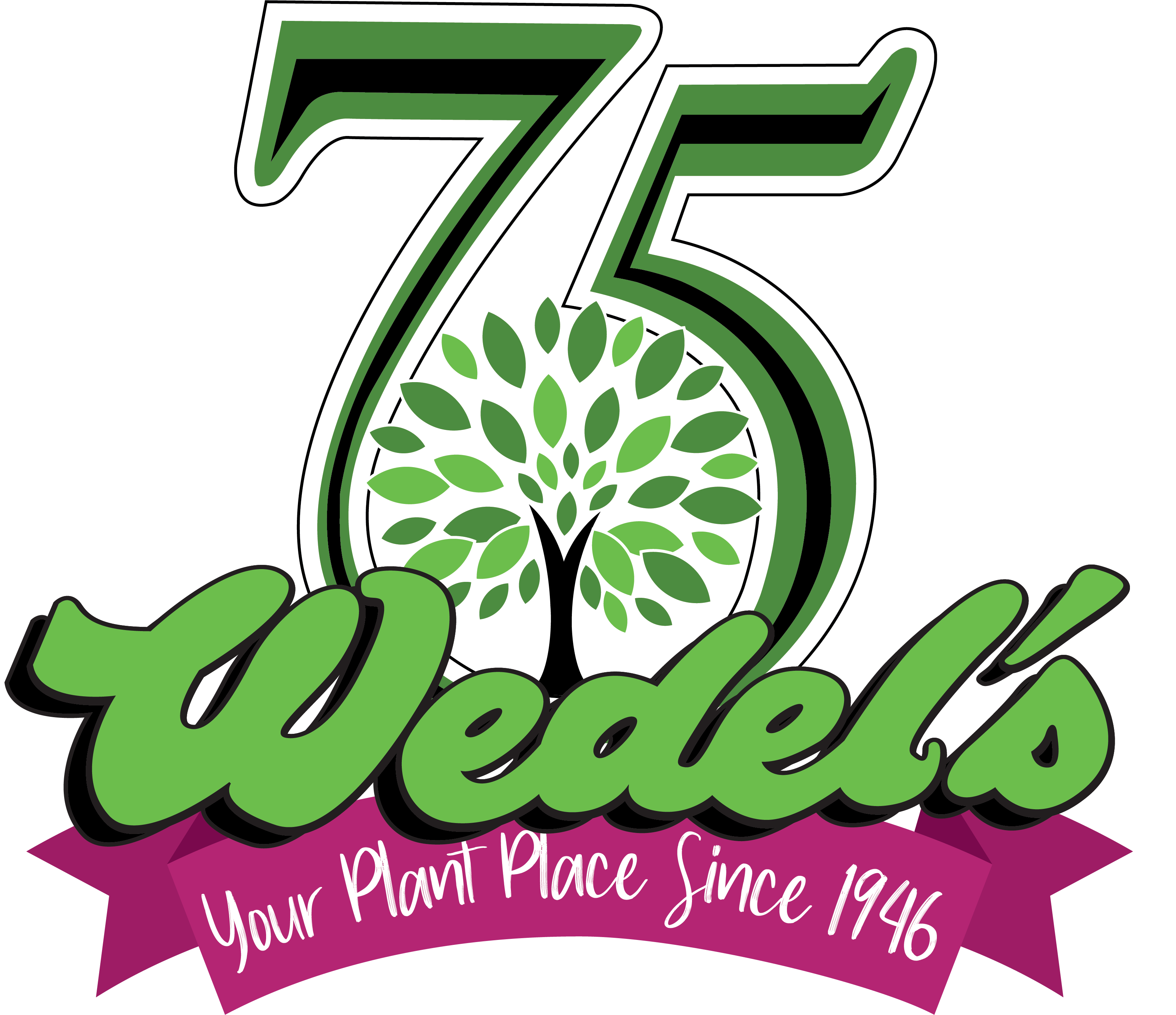 Celebrating 75 years of Wedels. Your Plant Place Since 1946.