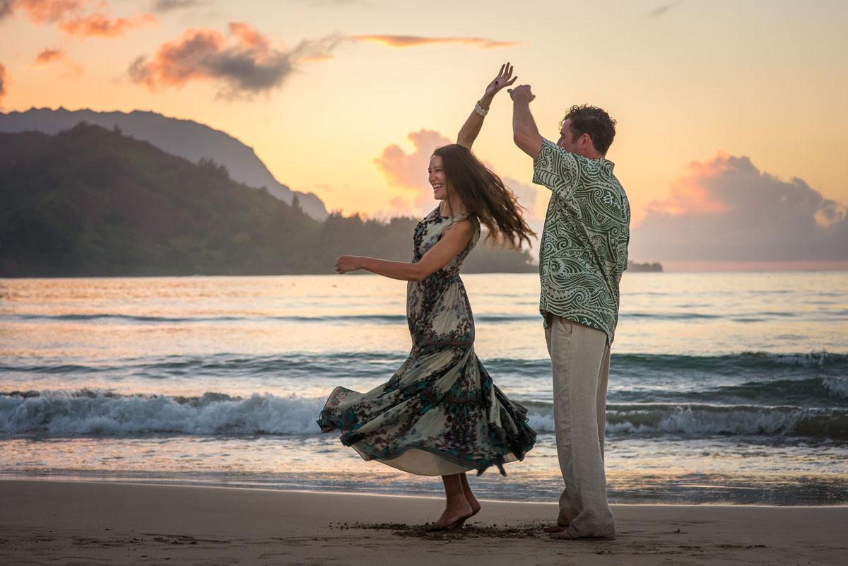 Fun Engagement Photos Kauai