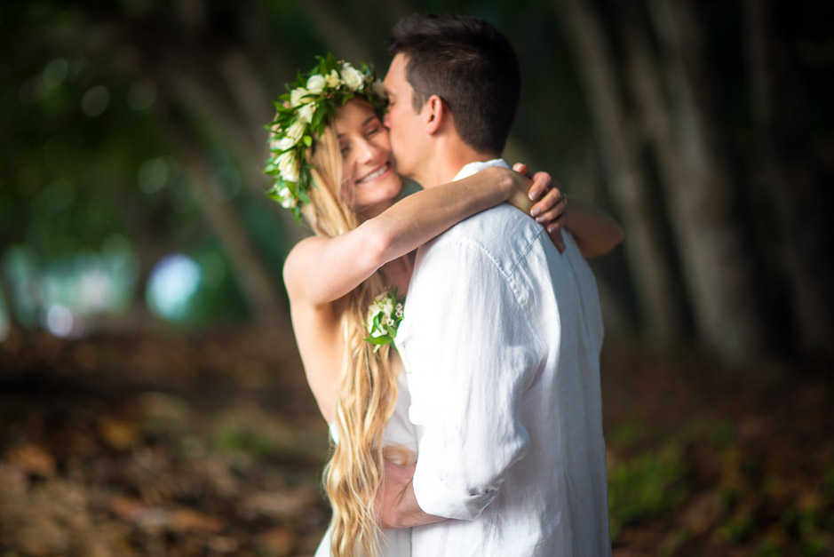 Elopement photo of young couple.