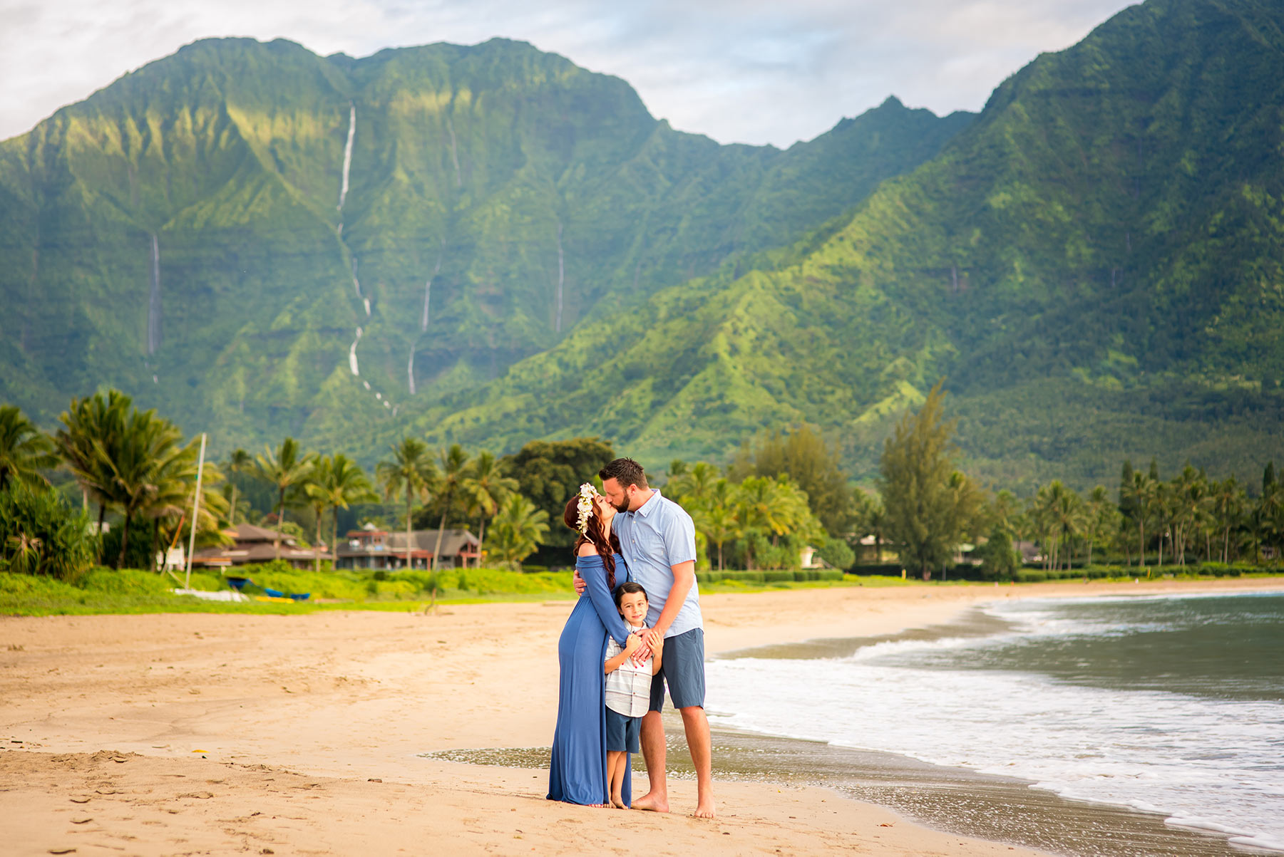 Wedding photography in Hanalei Bay, Kauai.