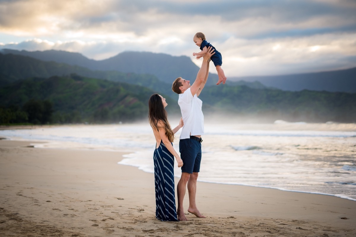 Family portraits in Hawaii
