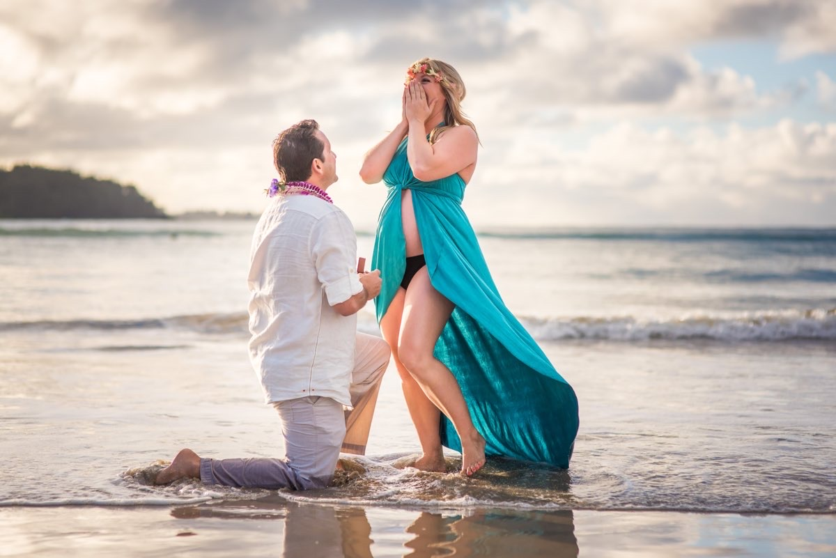Proposal on beach in Kauai