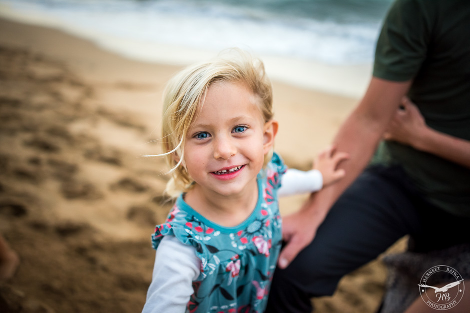 Young Child on the beach in Kauai
