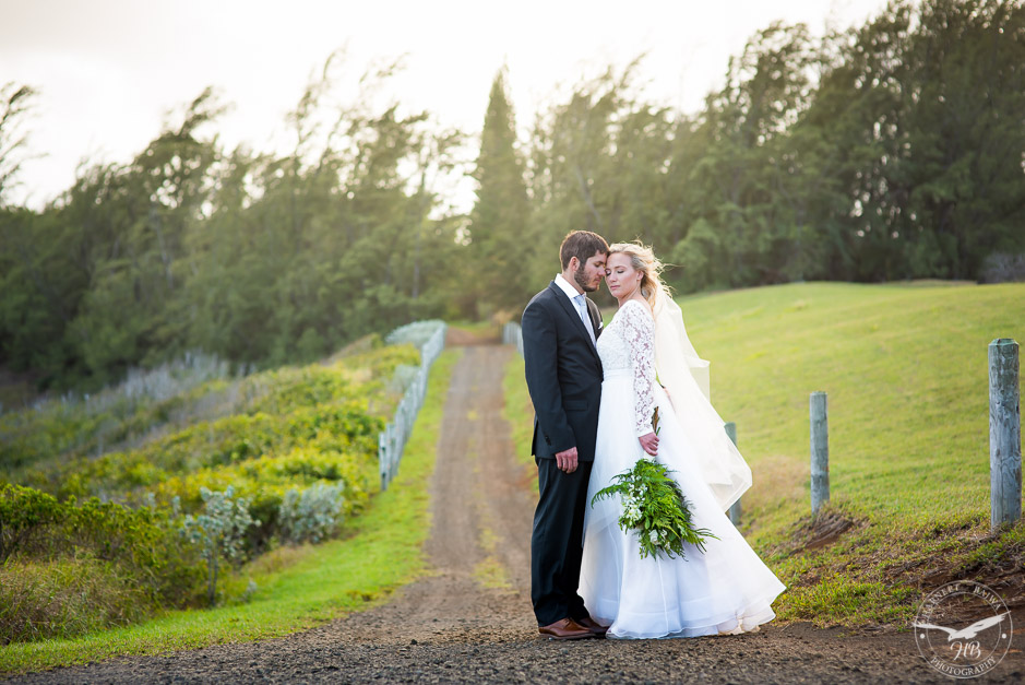 Wedding photography in a forest setting in Kauai.