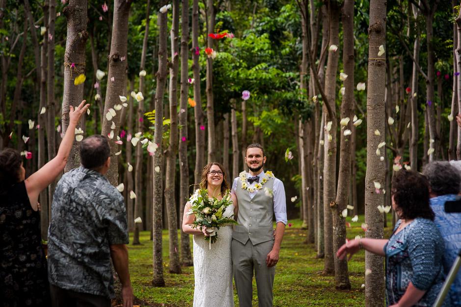 Forest Wedding ceremony photo in Kauai.