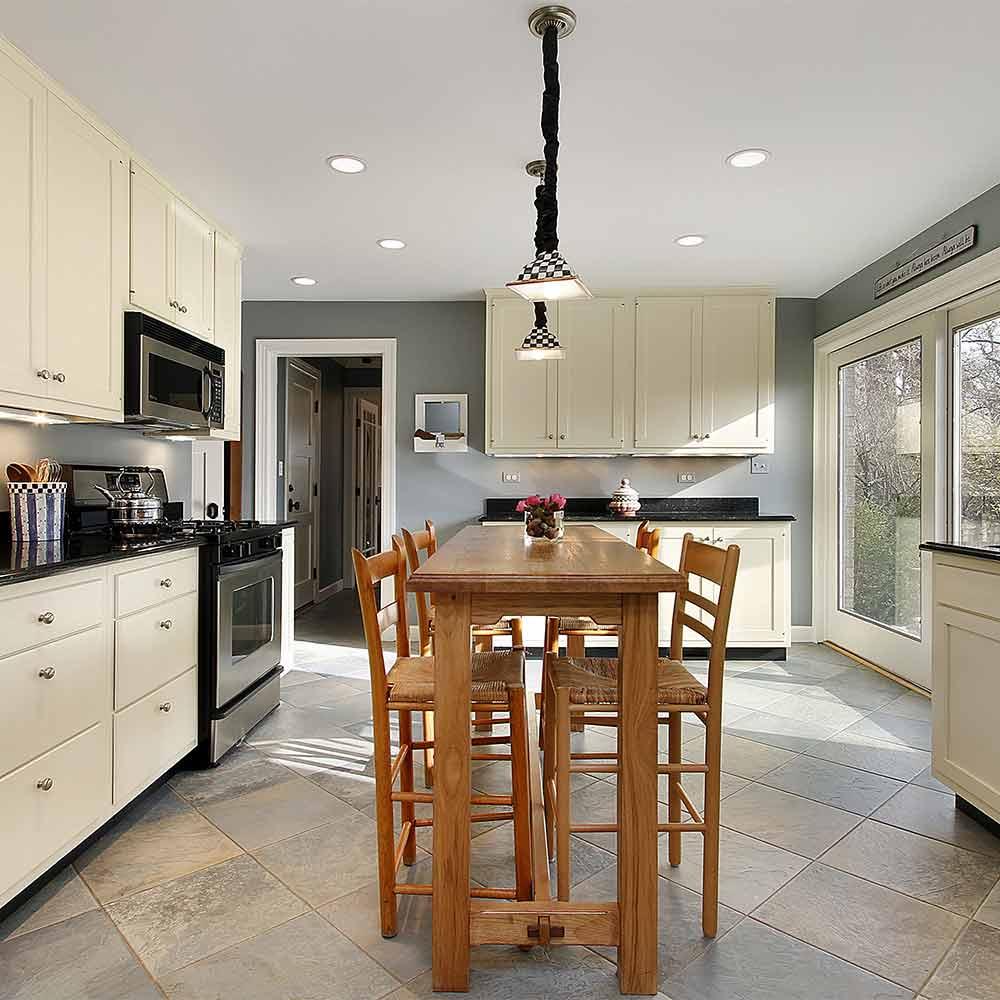 Beautiful kitchen tile floor