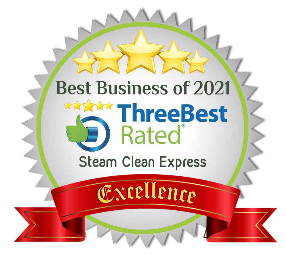 Steam Clean Express received a rating of excellence from ThreeBestRated Business of 2021