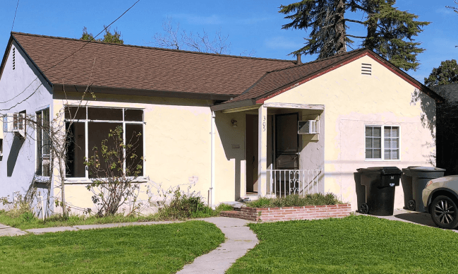 Front of a house