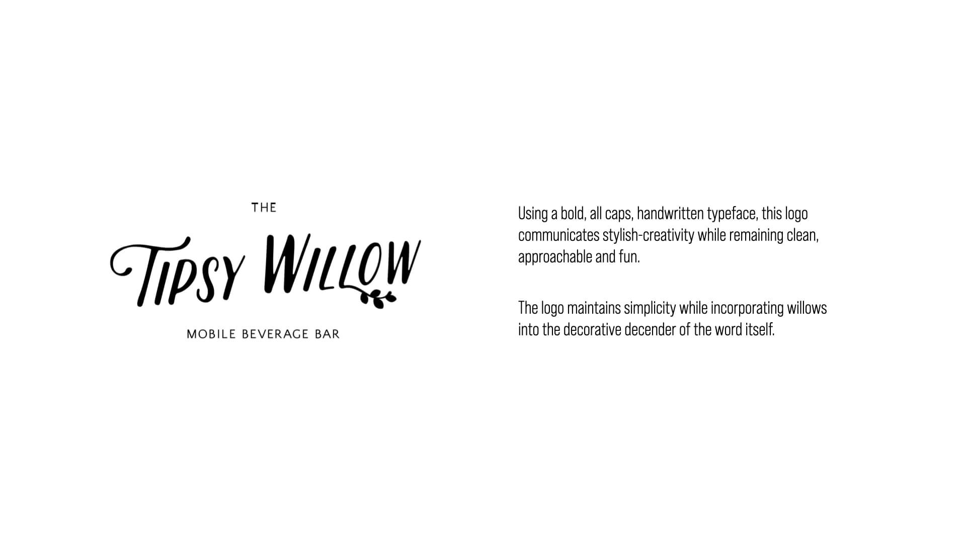 The Tipsy Willow Logo Concept