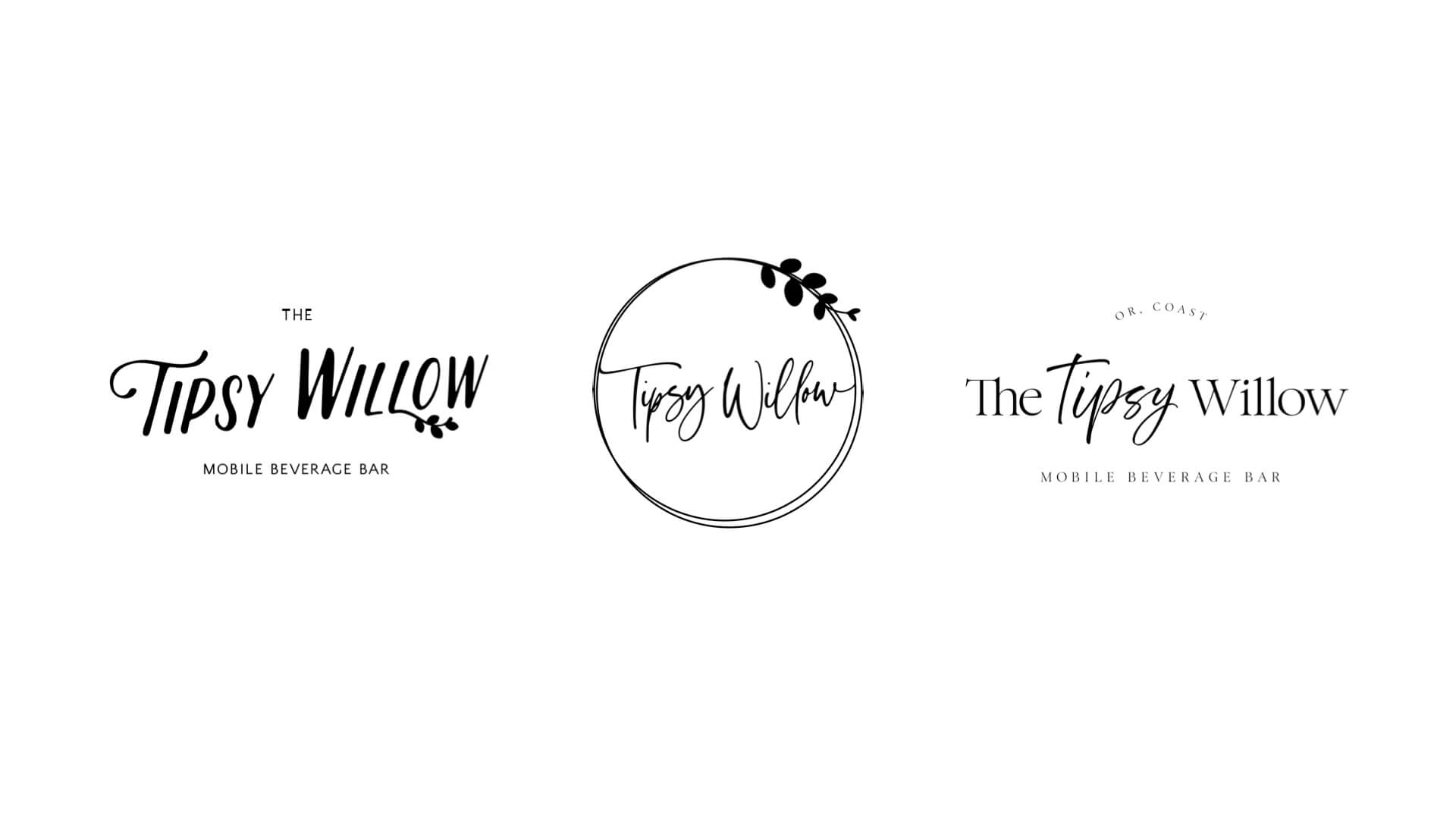 The Tipsy Willow Logo Concepts Comparison