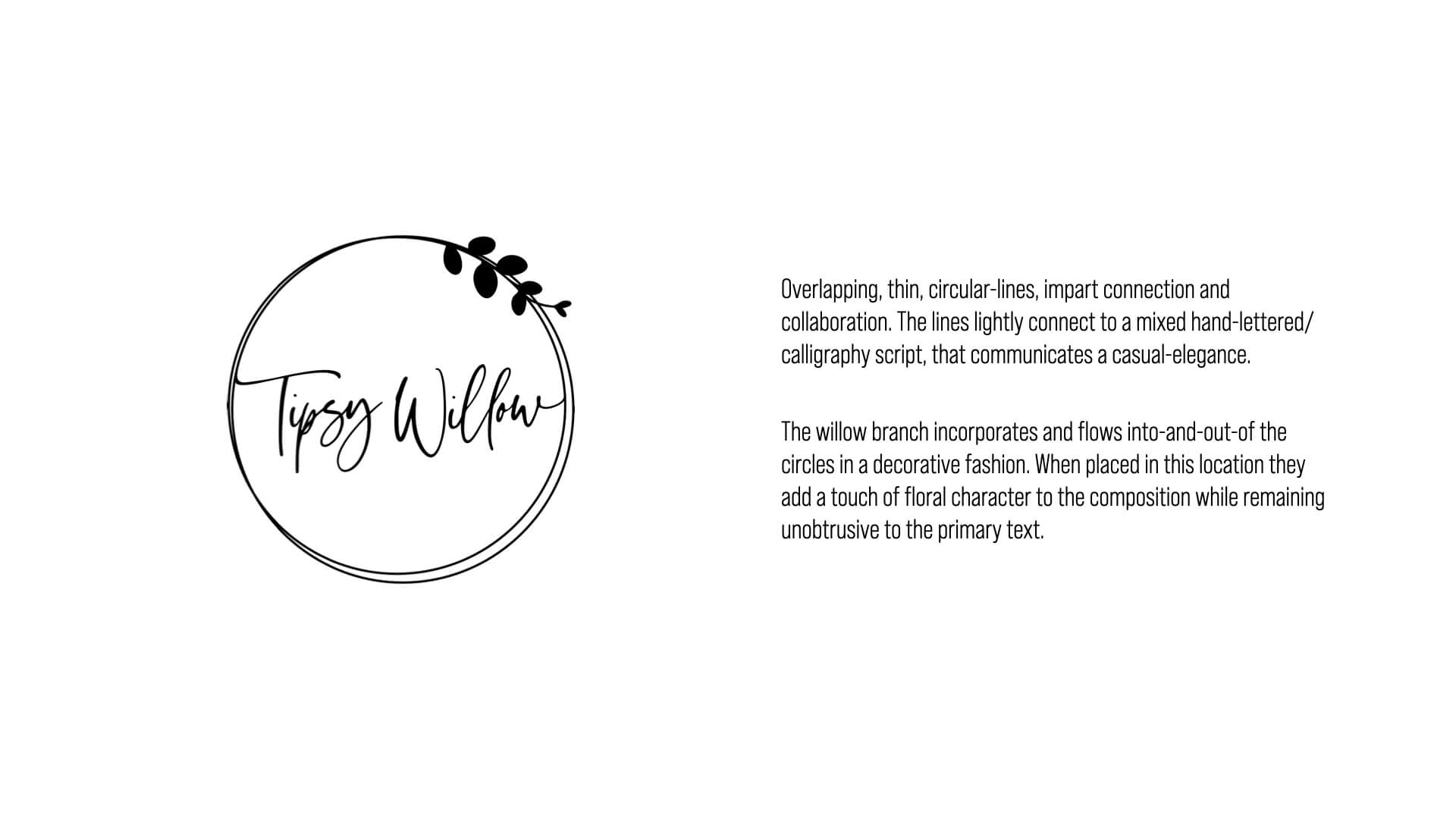 The Tipsy Willow Logo Concept Detailed Breakdown