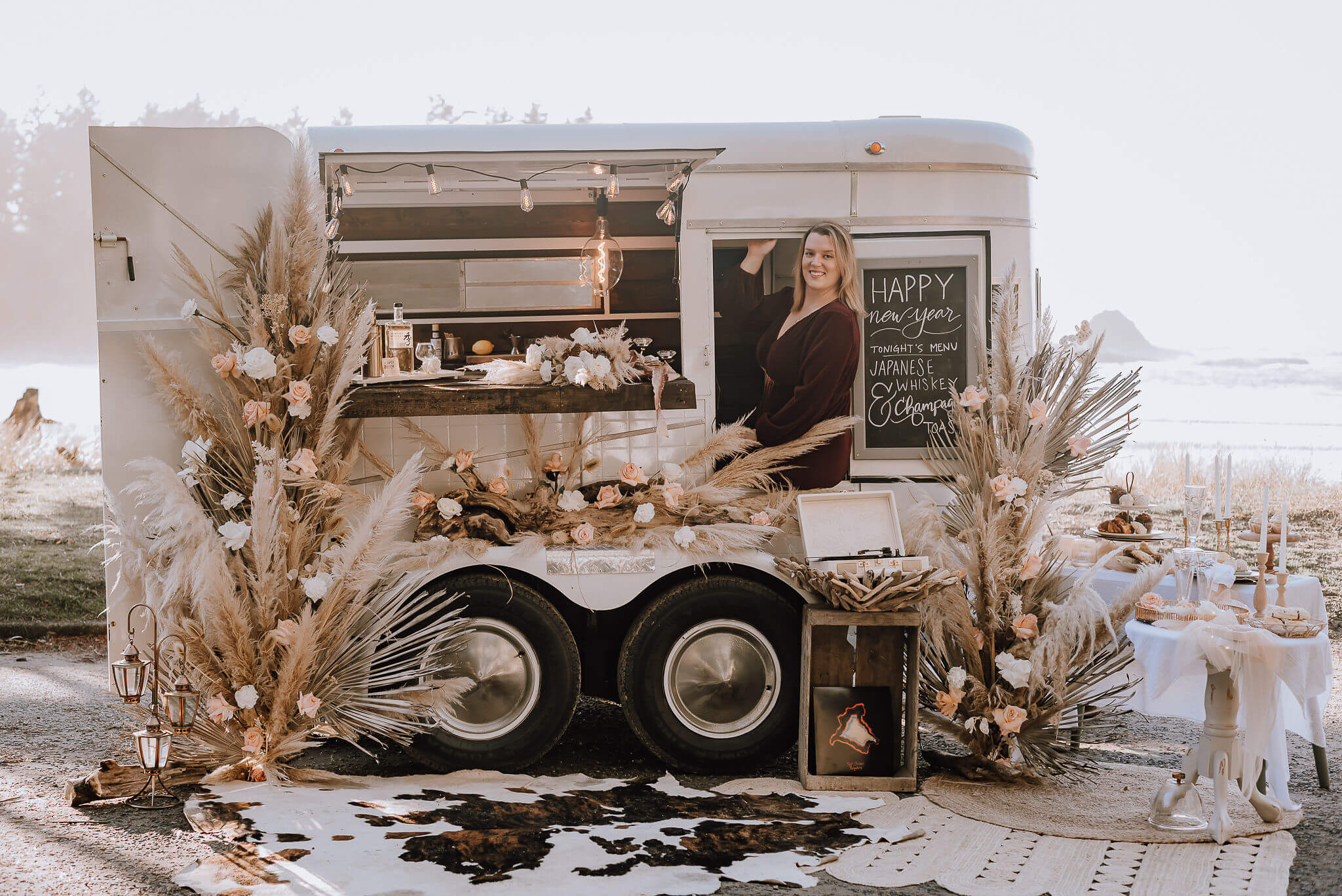 The Tipsy Willow mobile bartending trailer and its owner Natalie