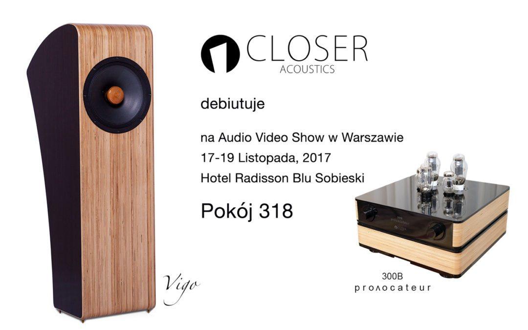 Poznaj brzmienie Closer Acoustics na Audio Video Show w Warszawie