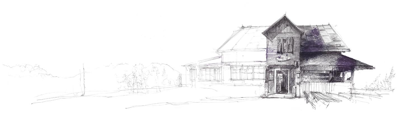 Skizze des Tschafon Schutzhaus
