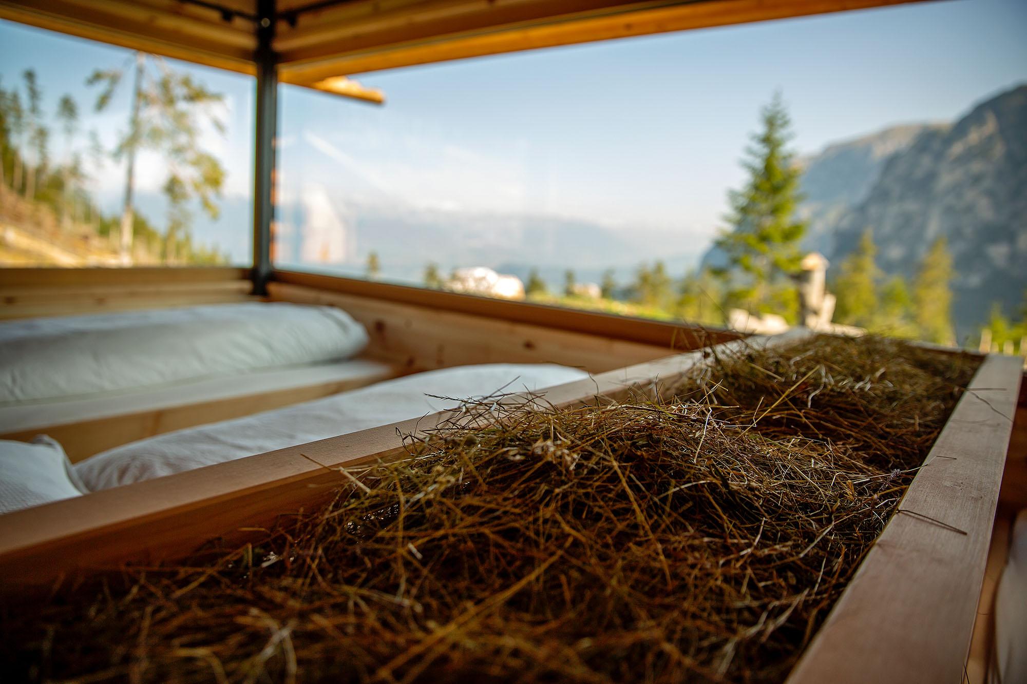 Panorama Heustadl Schlafzimmer mit Aussicht