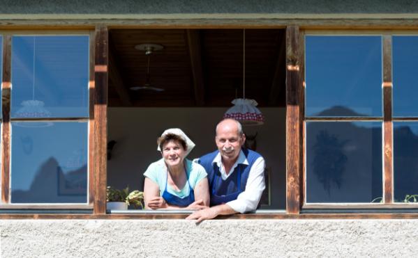 Bernadette und Josef die zweiter Generation des Scchutzhaus Tschafon