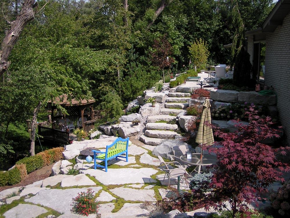 stone stairs and walk