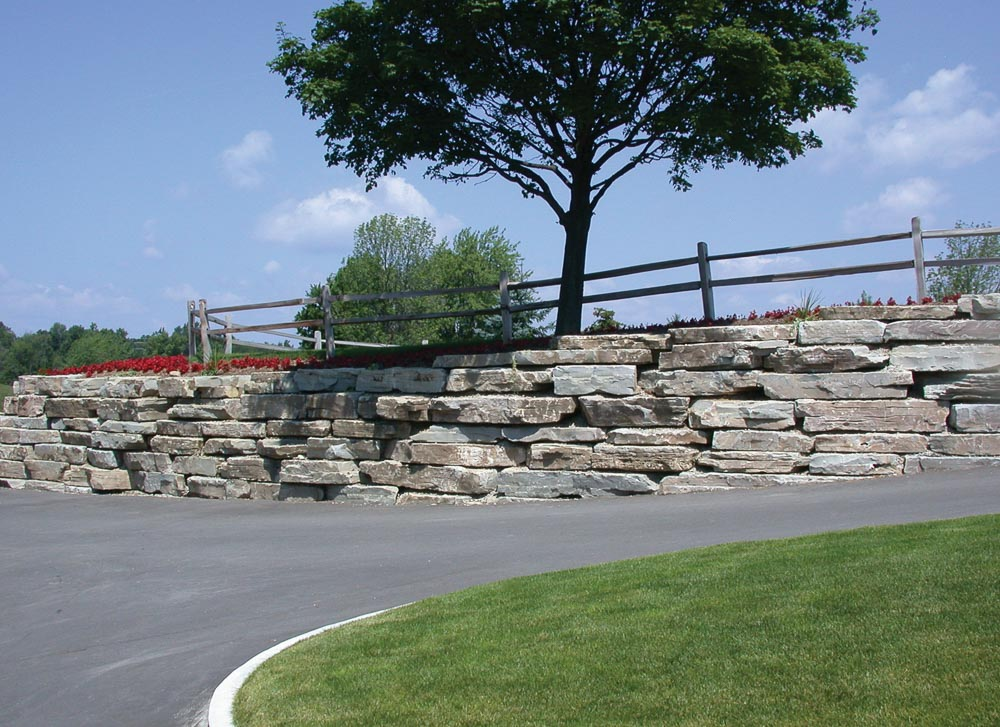 roadside retaining wall
