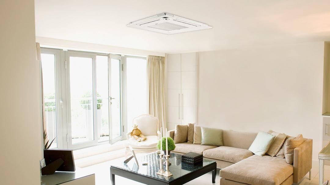 living room with cassette unit beige coffee table open doors
