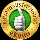 Logo eKomi Kundenauszeichnung gold