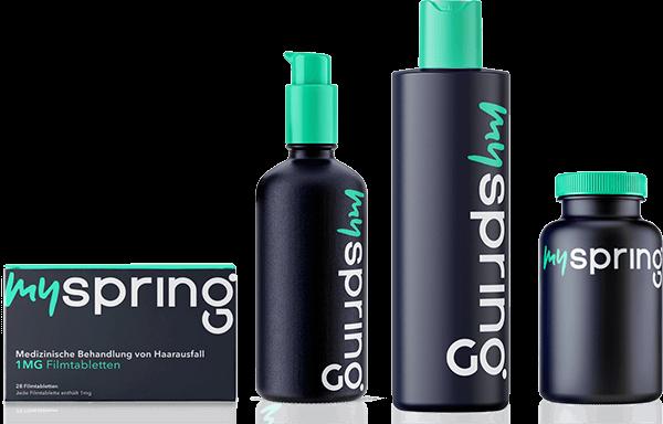 Alle Produkte bei Haarausfall von MySpring auf einen Blick