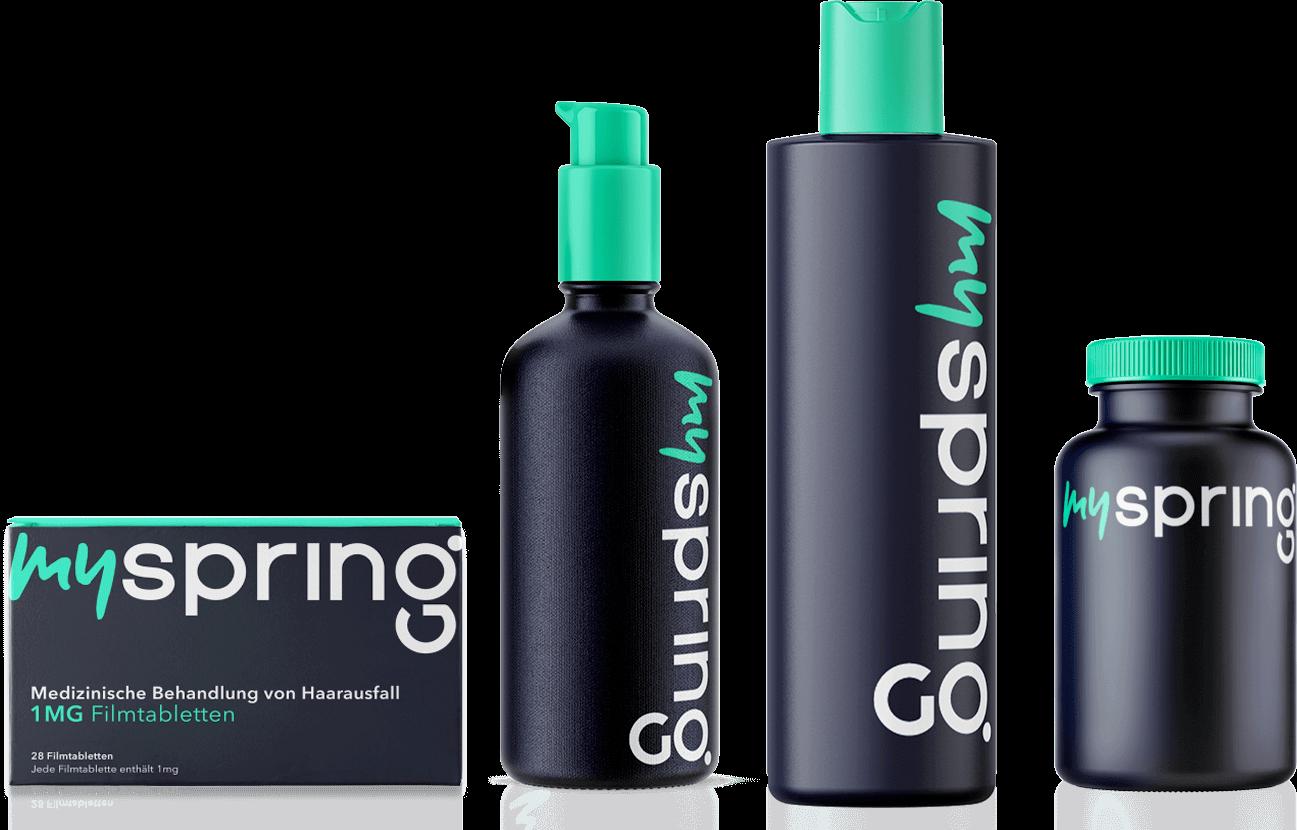 Alle Haarausfall Produkte von MySpring auf einen Blick