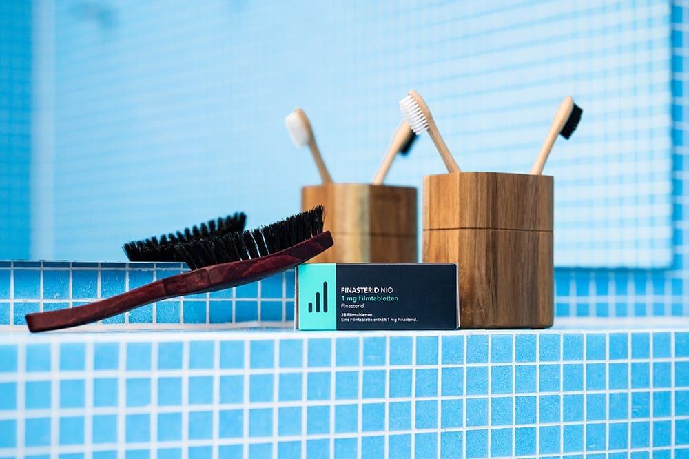 Finasterid und die MyBrush als Kombitherapie bei Haarausfall.