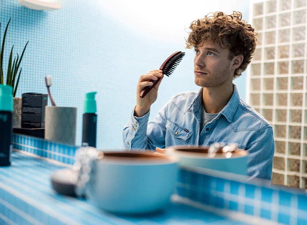 Die MyBrush von MySpring gegen Haarausfall richtig anwenden.