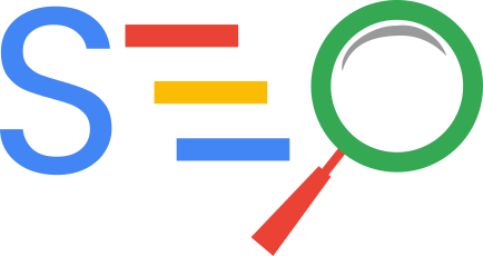 Custom SEO icon that is colored the same as Google's colors. This is icon helps demonstrate that The Marketing Guru is a company that can assist you being found on all search engines, but focuses primarily on Google.