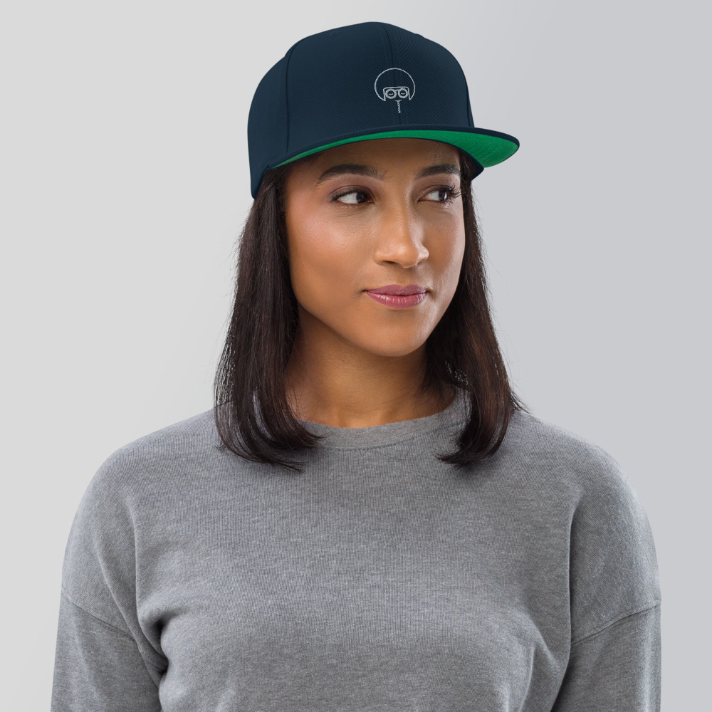 """This hat is structured with a classic fit, flat brim, and full buckram. The adjustable snap closure makes it a comfortable, one-size-fits-most hat.   • 80% acrylic, 20% wool (green camo is 60% cotton, 40% polyester) • Structured, 6-panel, high-profile • Plastic snap closure • Green under visor • Head circumference: 21 ⅝"""" - 23 ⅝"""" (54.9 cm to 60 cm)"""