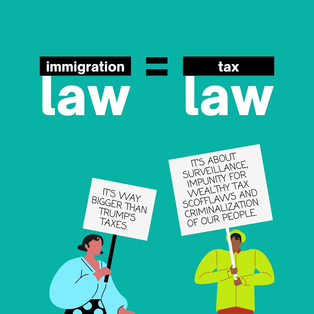 Immigration Law = Tax Law. Way bigger than Trump's taxes.
