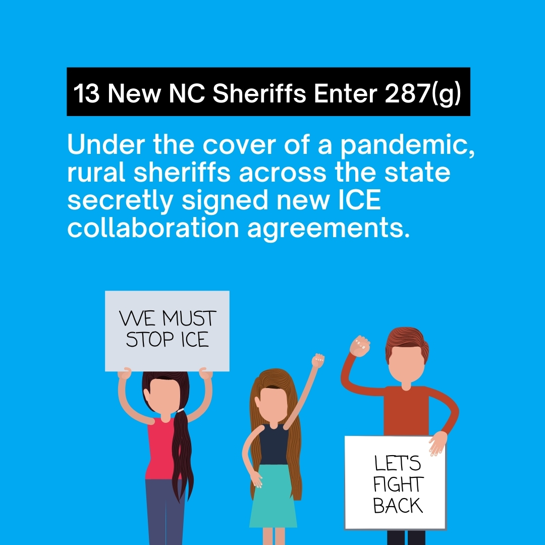 Under the cover of a pandemic, 13 New NC Sheriffs Enter 287(g).